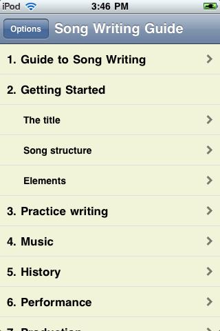 iGuides - Basics of Song Writing screenshot #3