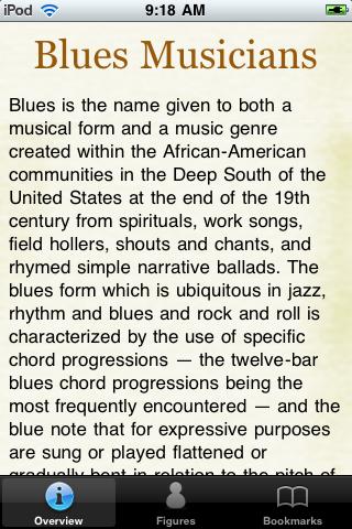 Blues Musicians Pocket Book screenshot #1