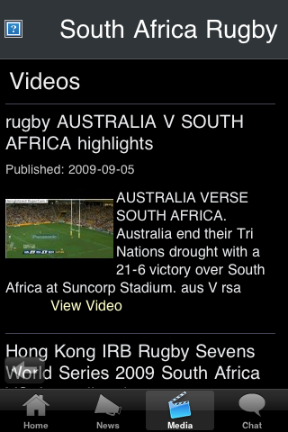 Rugby Fans - South Africa screenshot #3