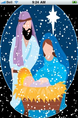 Nativity Scene Snow Globe screenshot #2