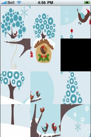 Winter Birds Slide Puzzle screenshot #3