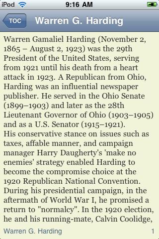 Warren G. Harding - Just the Facts screenshot #3