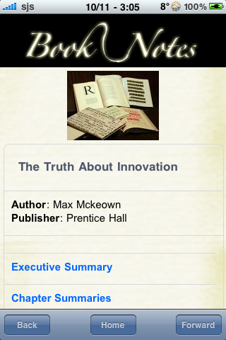 Book Notes - The Truth About Innovation screenshot #3