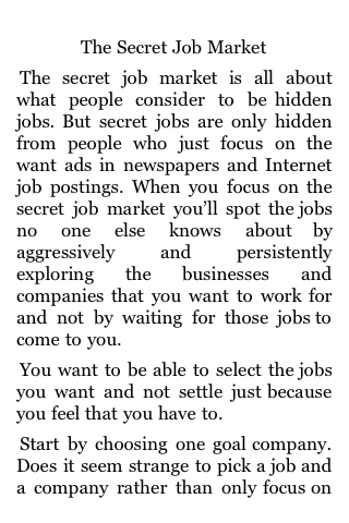 The Secret Job Market screenshot #1