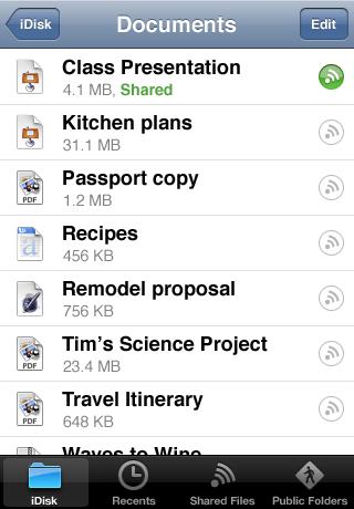 MobileMe iDisk screenshot #1