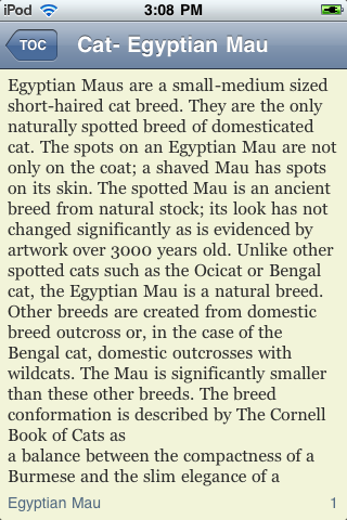 Egyptian Mau Cats screenshot #2