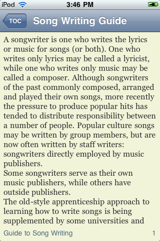 iGuides - Basics of Song Writing screenshot #2