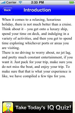 iGuides - Plan a Cruise Vacation screenshot #3