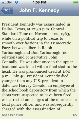 John F. Kennedy eBook screenshot #2