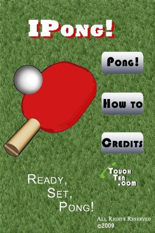 Ipong! Game ping pong, table tennis, pingpong, 卓球 screenshot #1