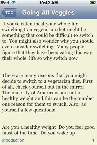 Goin' All Veggies - A Guide to Becoming a Vegetarian screenshot #3