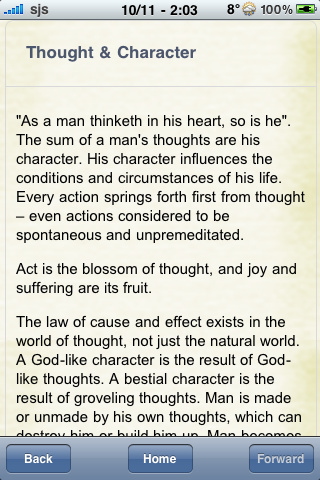 Book Notes - As A Man Thinketh screenshot #2