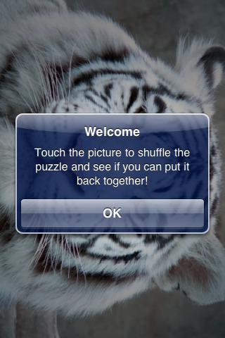 White Tiger Slide Puzzle screenshot #3