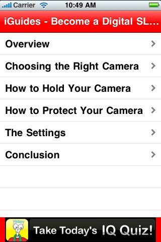 iGuides - Become a Digital SLR Pro screenshot #2