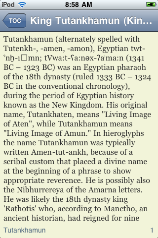 King Tut - Just the Facts screenshot #3