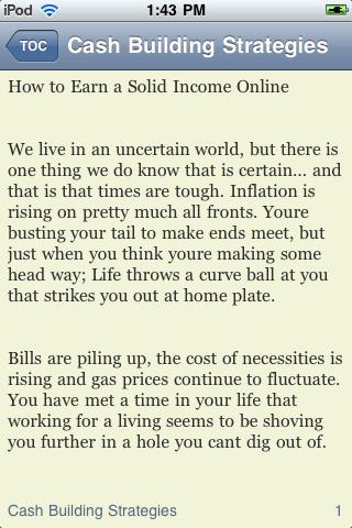 Cash Building Strategies screenshot #3