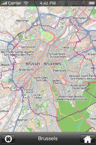 iMapsPro - Brussels screenshot #1