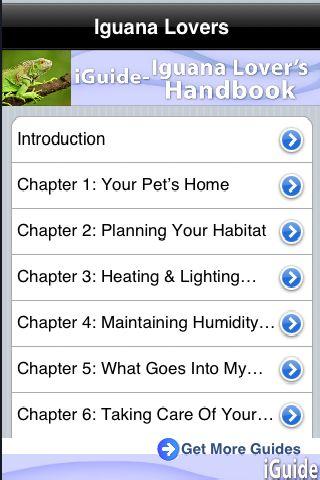iGuides - Iguana Lover`s Handbook screenshot #1