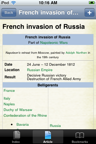 The French Invasion of Russia Study Guide screenshot #1
