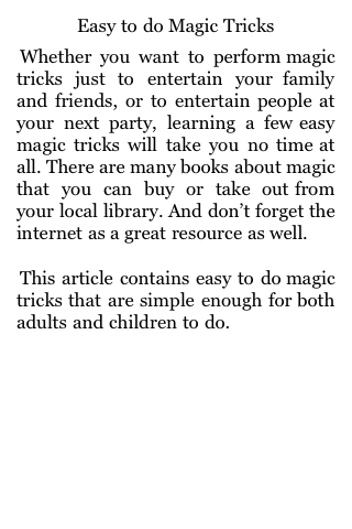 Easy to do Magic Tricks screenshot #1