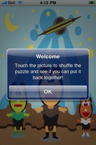 Peaceful Aliens Slide Puzzle screenshot #2