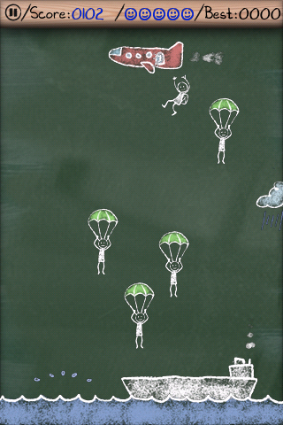 Parachute Panic HD Lite screenshot #2
