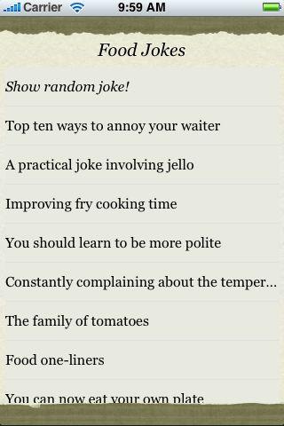 Food Jokes screenshot #3