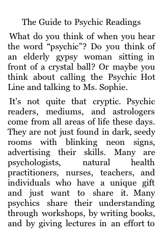 The Guide to Psychic Readings screenshot #1