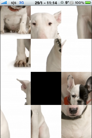 Bull Terrier with a puppy Slide Puzzle screenshot #2