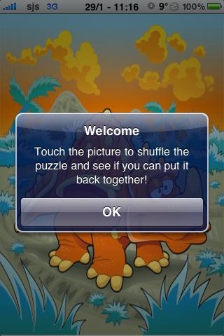 Dinosaur Slide Puzzle screenshot #3
