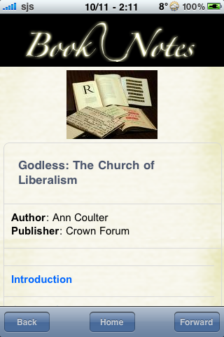 Book Notes - Godless: The Church of Liberalism screenshot #3