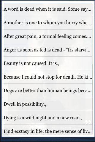 Emily Dickinson Quotes screenshot #3