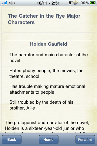 Book Notes - The Catcher in the Rye screenshot #2