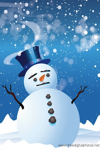 Slide Puzzle - Sad Snowman screenshot #1