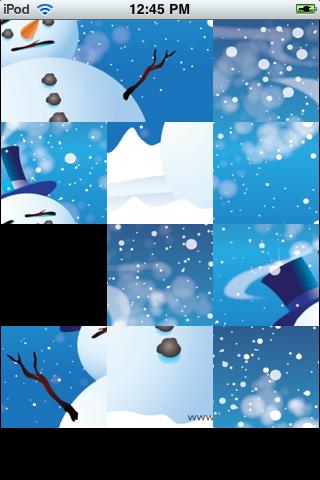 Slide Puzzle - Sad Snowman screenshot #2