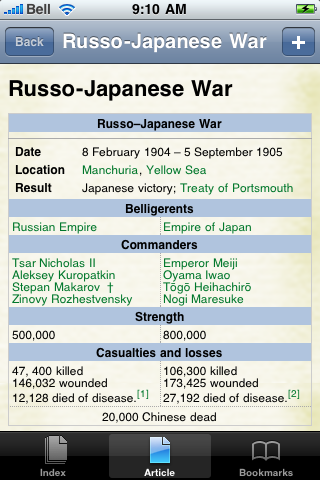 Russo Japanese War Study Guide screenshot #1