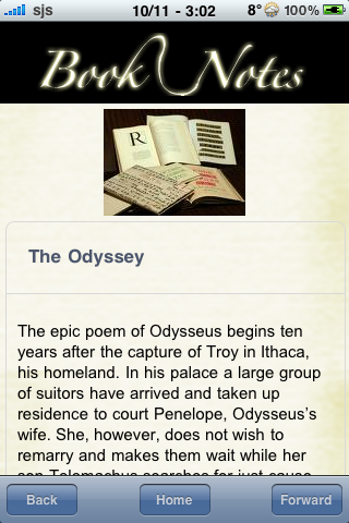 Book Notes - The Odyssey screenshot #3