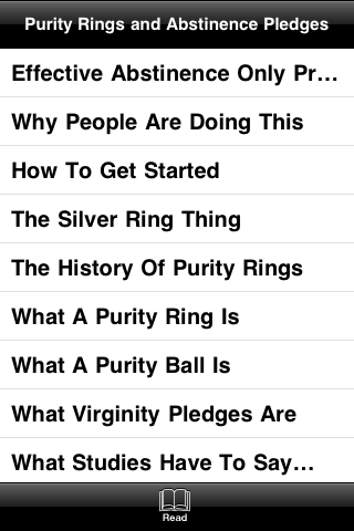 Purity Rings and Abstinence Pledges screenshot #3