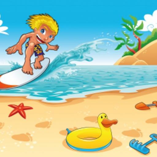 Surfer Slide Puzzle