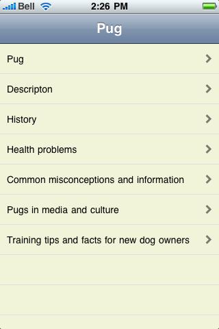 The Pug Book screenshot #1