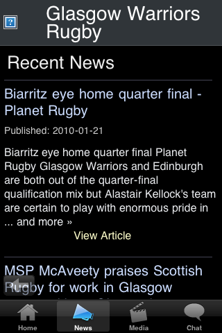 Rugby Fans - Glasgow WRS screenshot #3