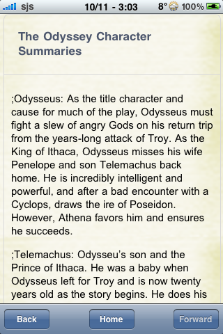 Book Notes - The Odyssey screenshot #2