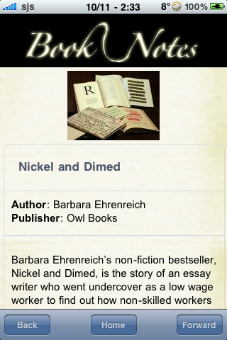 Book Notes - Nickel and Dimed screenshot #3