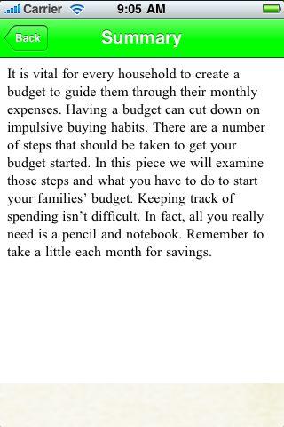 iGuides - Create A Budget screenshot #3