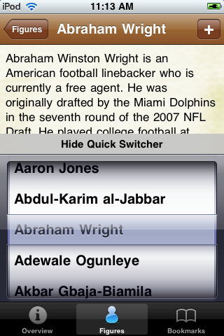 All Time Miami Football Roster screenshot #3