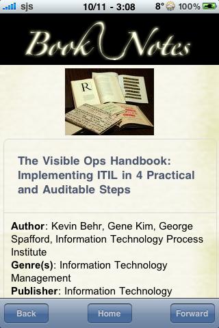 Book Notes - The Visible Ops Handbook screenshot #3