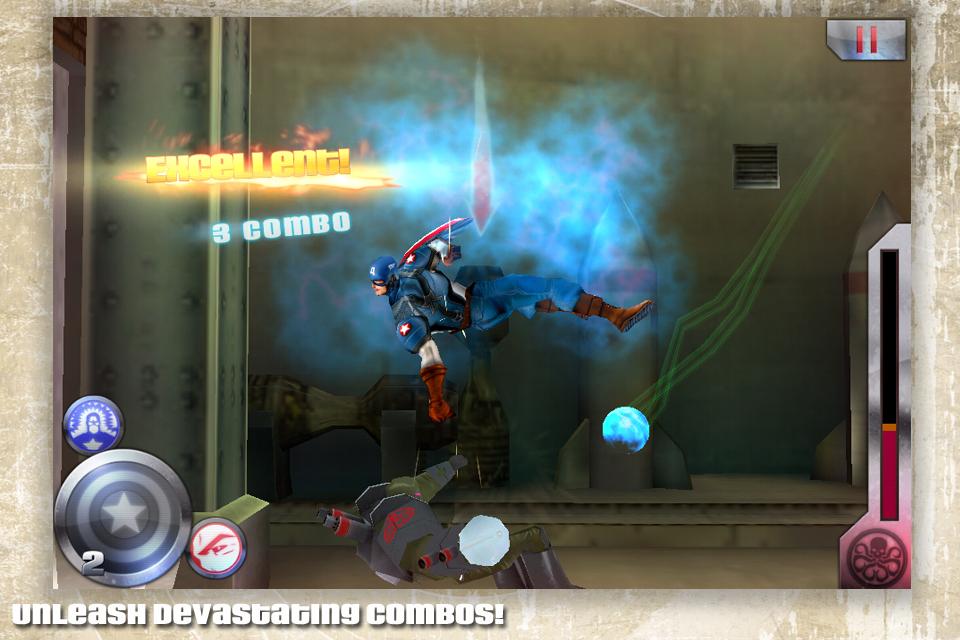 تحديث جديد لحامي العادلة الكابتن امريكا حامي المدينة Captain America v1.0.2