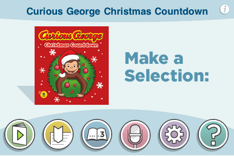 Curious George Christmas.Curious George Christmas Countdown By H A Rey