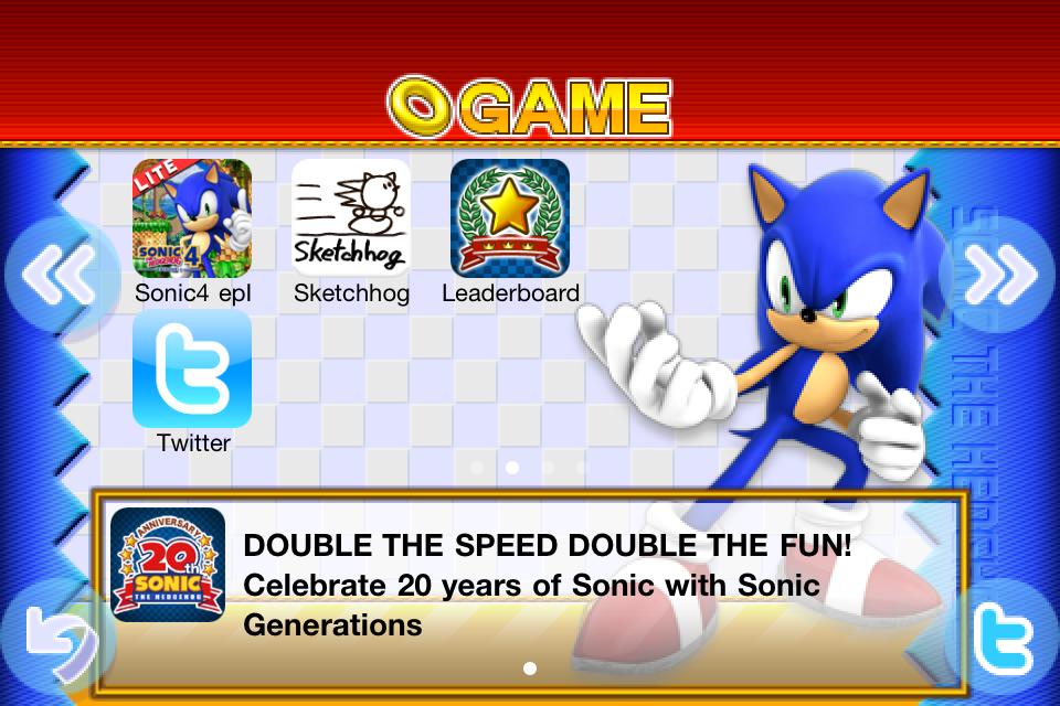 Sonic 20th Anniversary | Apps | 148Apps