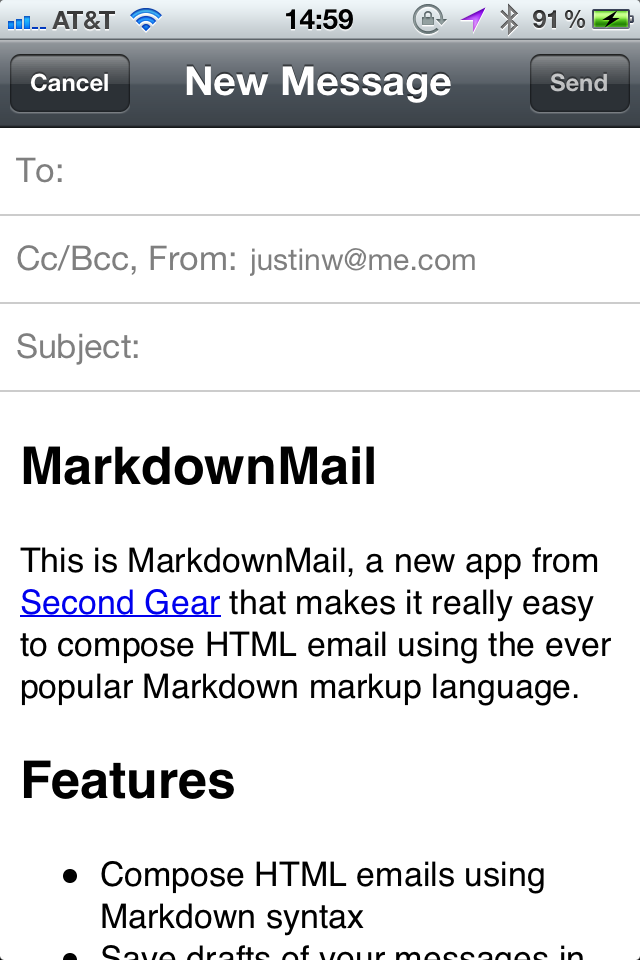 MarkdownMail - Send HTML Email screenshot #3